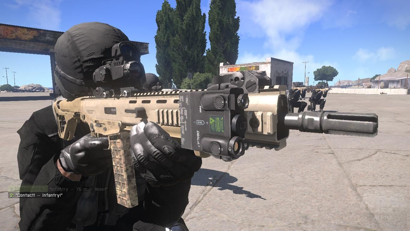 ArmA 3: SWAT team with automatic rifle