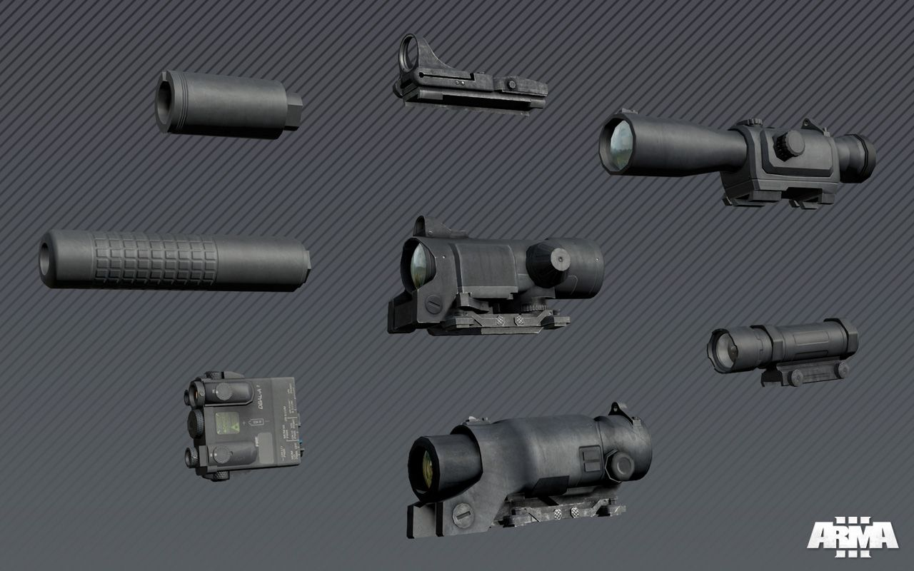 arma3 weapon accessories