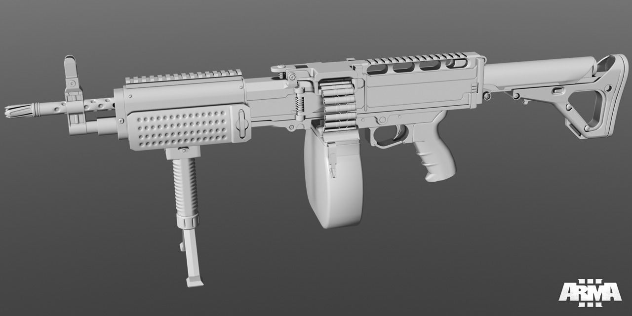 arma3 weapon m200 Lmg concept