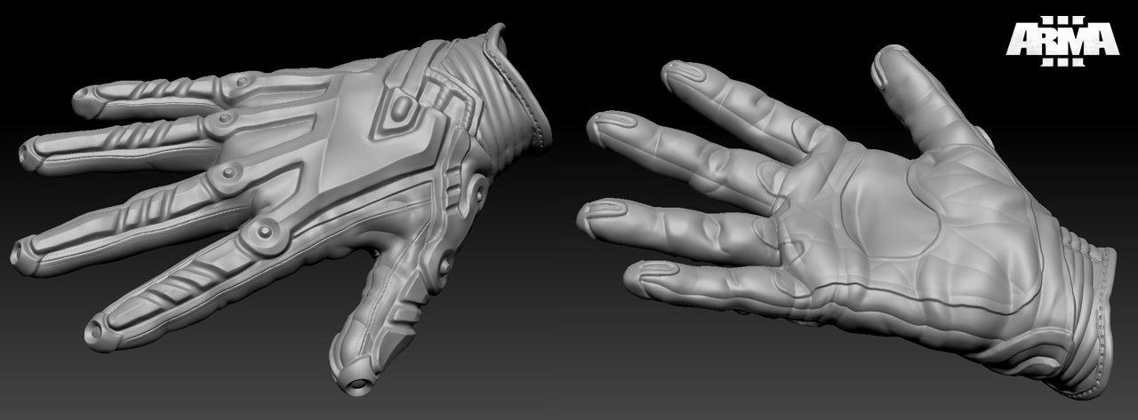 arma3 sculpt gloves